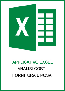 Applicativo Excel - analisi costi fornitura e posa